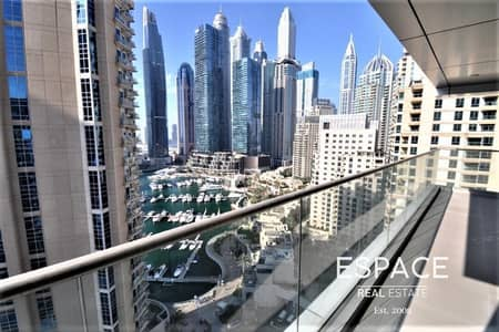 2 Bedroom Flat for Rent in Dubai Marina, Dubai - Chilller Free - Modern 2BR - Mid Floor