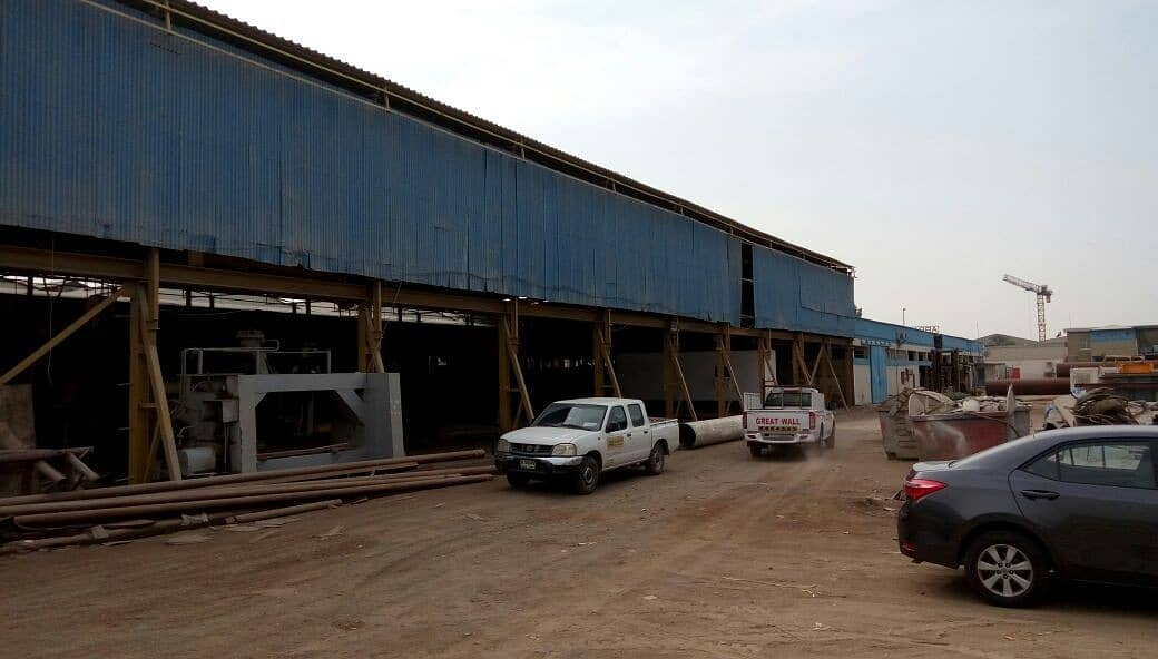 Available rent for commercial steel fabrication @ Al Quoz 3rd Industrial area