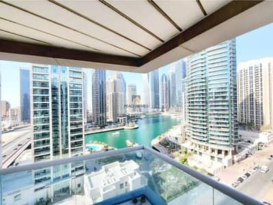2 Bedroom Flat for Rent in Dubai Marina, Dubai - PAY 4CHQS   MARINA-POOL VIEW   SEMI-FURNISHED 2BR