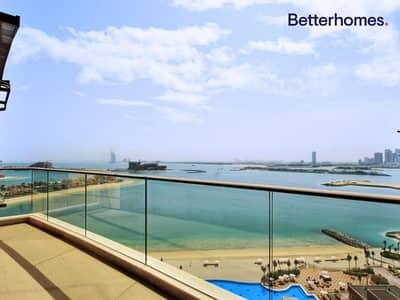 فلیٹ 1 غرفة نوم للايجار في نخلة جميرا، دبي - Sea View | Higher Floor | Beach Access  | Palm