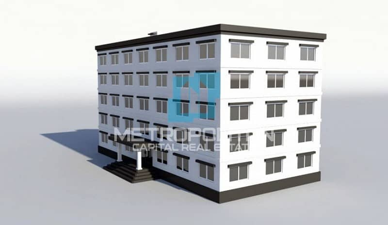 Residential Building| 5 Floor| 20 Apartments| Roof