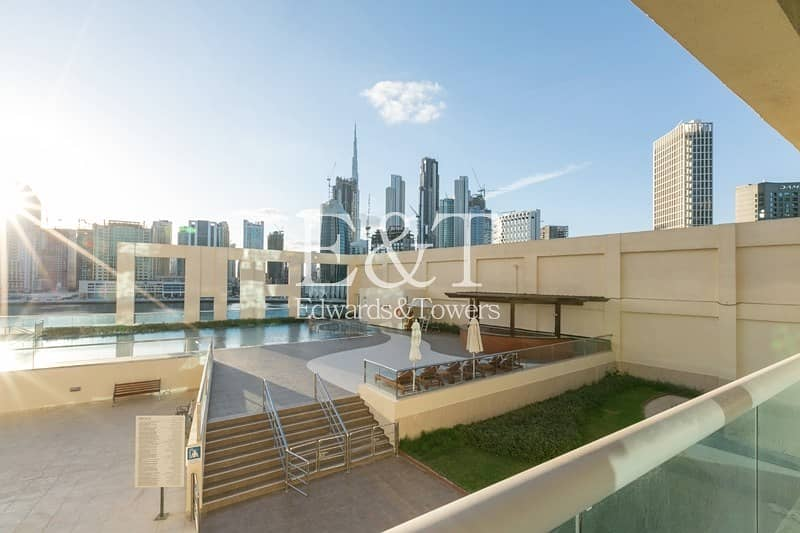 2 Vacant | Spacious 1BR | Pool and Partial Burj View