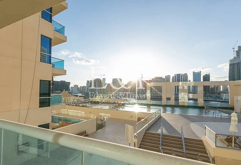 22 Vacant | Spacious 1BR | Pool and Partial Burj View