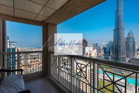 2 Bedroom Apartment for Rent in Downtown Dubai, Dubai - Burj Khalifa View | 2BR Ensuite | 1 cheque