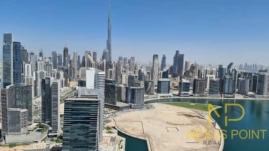 Burj Khalifa and lake view kitchen appliances I Balcony