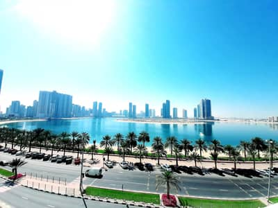 4 Bedroom Apartment for Rent in Al Khan, Sharjah - Fully Renovated Sea View Huge 4BR Apartment with Balcony Health Club and Parking