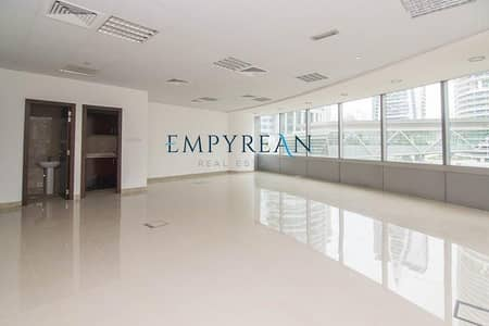 Office for Rent in Jumeirah Lake Towers (JLT), Dubai - NEAR METRO FITTED OFFICE LARGE AND SPACIOUS WITH 2 PARKINGS