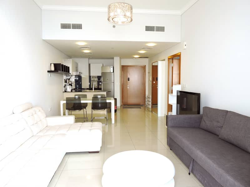 Ramadan Offer Elegant Fully furnished 1BD with full sea view palm view