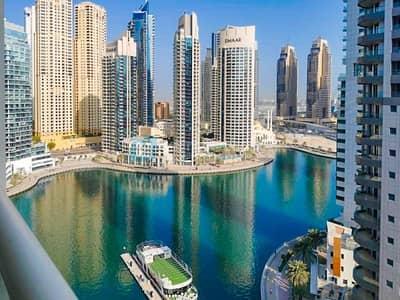 2 Bedroom Apartment for Rent in Dubai Marina, Dubai - Bright Layout | Marina and SZR Views | Mid Floor