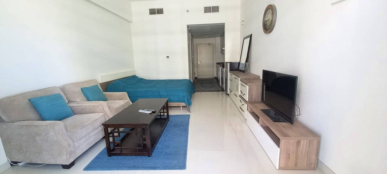 2 Fully furnished studio ready in Golf Horizon Damac Hills