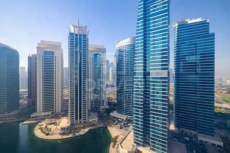 1 Bedroom Apartment for Rent in Jumeirah Lake Towers (JLT), Dubai - High Floor Apt w/ Lake View in Cluster Y