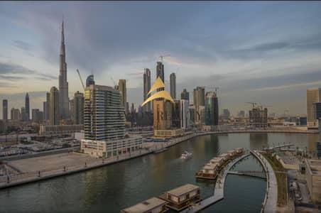 شقة 1 غرفة نوم للايجار في الخليج التجاري، دبي - Full Burj & Canal Facing | High Floor | 2 Balconies - Business Bay