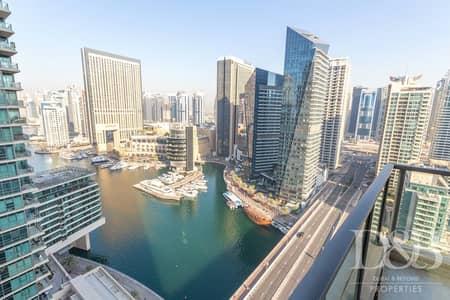 3 Bedroom Flat for Rent in Dubai Marina, Dubai - Marina & Sea View | Largest Unit | Unfurnished