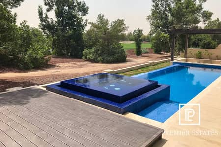 6 Bedroom Villa for Sale in Jumeirah Golf Estate, Dubai - Golf View Custom Built Luxury Mansion