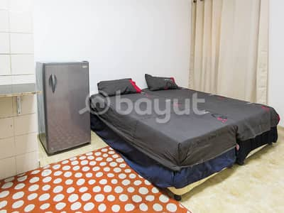 Studio for Rent in Al Rashidiya, Ajman - Furnished Studio (Central AC)(1 Month Free) Al-Rashidiya-Ajman