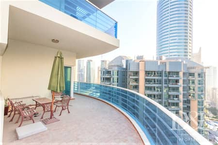 3 Bedroom Apartment for Rent in Dubai Marina, Dubai - Spacious Balcony | High Floor | Furnished