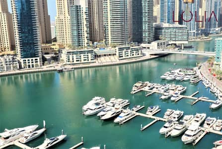 2 Bedroom Apartment for Rent in Dubai Marina, Dubai - Marina view | Spacious 2BR + Maid for Rent