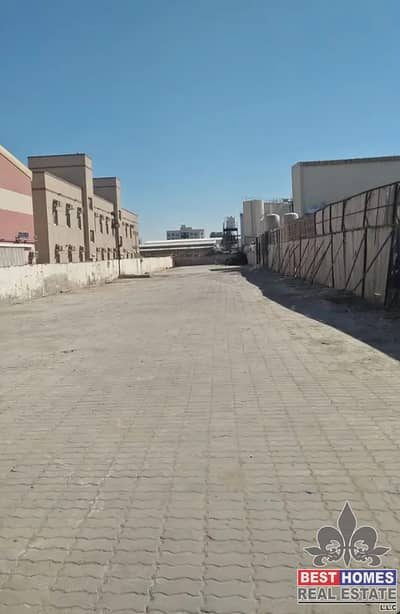 Mixed Use Land for Rent in Al Jurf, Ajman - 12,000 sq ft open land with inter lock and boundary  wall