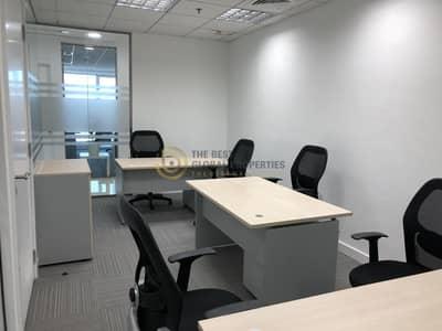 مکتب  للايجار في شارع الشيخ زايد، دبي - Furnished Office Spaces | Near Metro | Nice View
