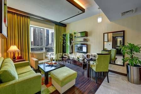 شقة فندقية 1 غرفة نوم للايجار في دبي مارينا، دبي - Cozy 1 BR | Serviced | Bills Included | Near Metro
