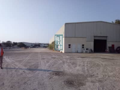 Plot for Rent in Al Quoz, Dubai - HUGE PLOT WITH A LARGE WAREHOUSE FOR RENT /10AED PER SQFT...