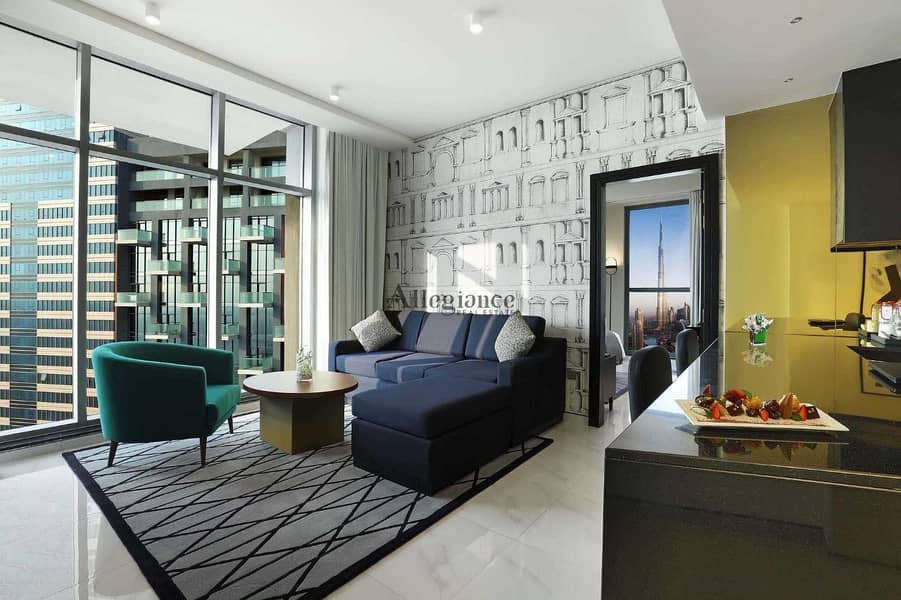 All-Inclusive| Fully Furnished| Service apartment Millennium Atria Business Bay
