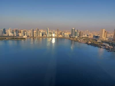 3 Bedroom Apartment for Rent in Al Majaz, Sharjah - Luxurious 3 Bedroom Apartment At Buhaira Corniche Sea View Balcony Maidsroom Swimming Pool Just In 55,000/-