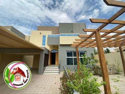 5 Bedroom Villa for Sale in Al Rawda, Ajman - Villa for sale with European finishes, freehold for all nationalities and a very excellent location directly from the owner with bank assistance, close to Khalifa Street