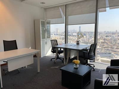 Office for Rent in Bur Dubai, Dubai - Remarkable Location| Fully Fitted Elegant | Bright | Executive Office| Linked with Metro and Mall