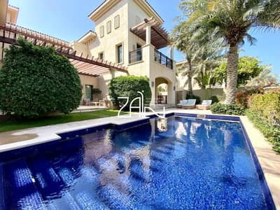 4 Bedroom Villa for Rent in Saadiyat Island, Abu Dhabi - Golf/Sea View 4 BR with Pool Prestigious Location