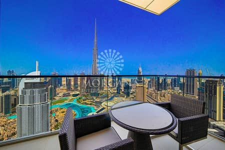 4 Bedroom Penthouse for Sale in Downtown Dubai, Dubai - 4+Maid Duplex Penthouse in Address Fountain Views 1