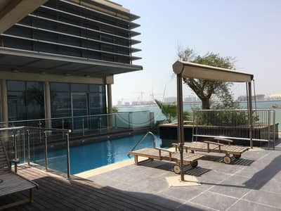 5 Bedroom Villa for Rent in Al Raha Beach, Abu Dhabi - Absolute Seafront VIP Villa |Very Private