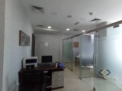 Office for Sale in Business Bay, Dubai - Hot Deal Fitted Office| Fully Furnished | 2 Glass Partition | Fantastic View