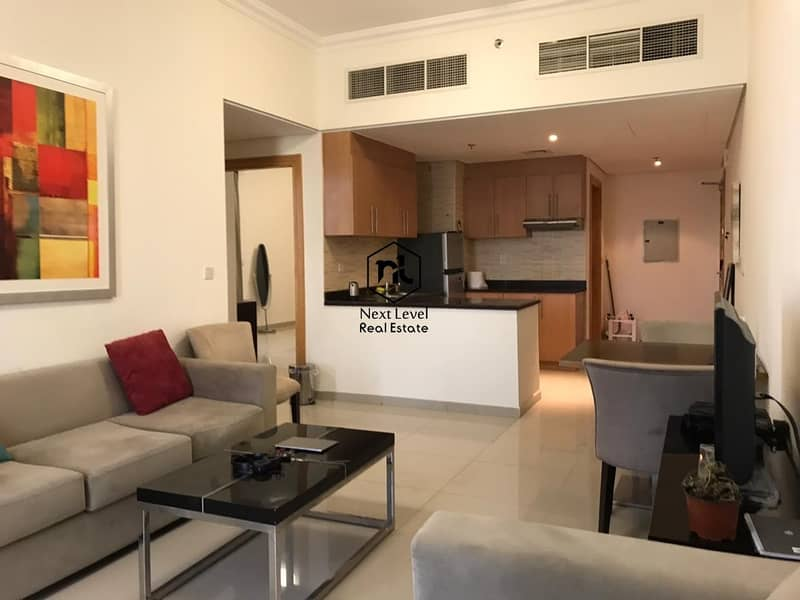 2 vacate on transfer furnished 2 bedroom with balcony and parking