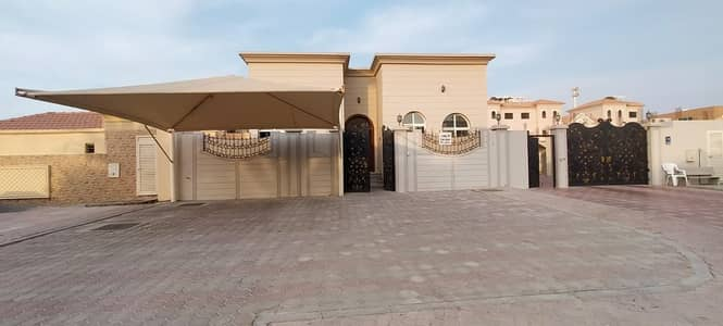 3 Bedroom Villa for Rent in Shakhbout City (Khalifa City B), Abu Dhabi - Very special offer Extension (3 BR) Private entrance from the main street with bracken covered outside.