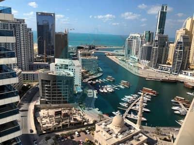 Studio for Rent in Dubai Marina, Dubai - Escan Marina Tower I Studio High Floor I Chiller Free I  Marina & See View