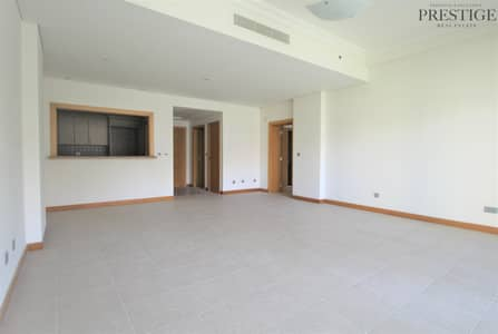 1 Bedroom Apartment for Rent in Palm Jumeirah, Dubai - One  Bedroom   High Floor view   Unfurnished