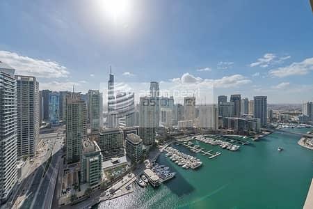 3 Bedroom Apartment for Rent in Dubai Marina, Dubai - Full Marina View  |  3 BR Plus Maids  | Vacant Now