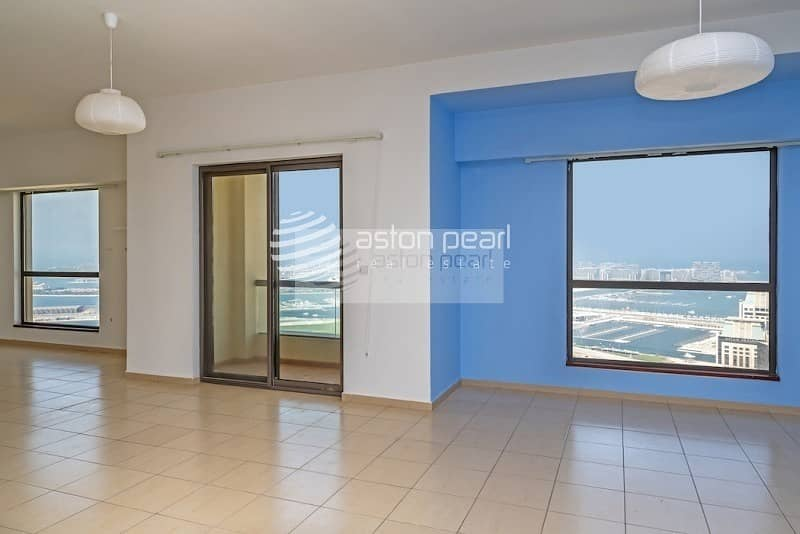 Largest/Rarest 1BR Full Sea View in JBR|High Floor