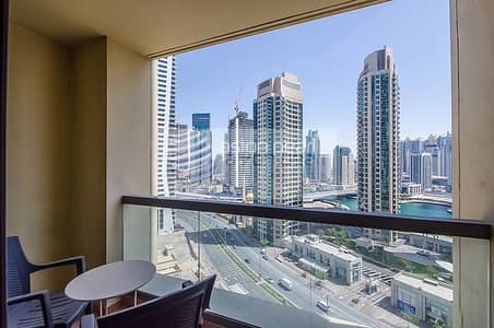 2 Bedroom Apartment for Rent in Jumeirah Beach Residence (JBR), Dubai - Furnished 2BR + Study for Rent in Multiple Cheques