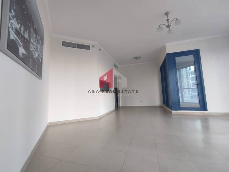 Semi-furnished! Chiller large 1-BHK for rent in X-1 Tower