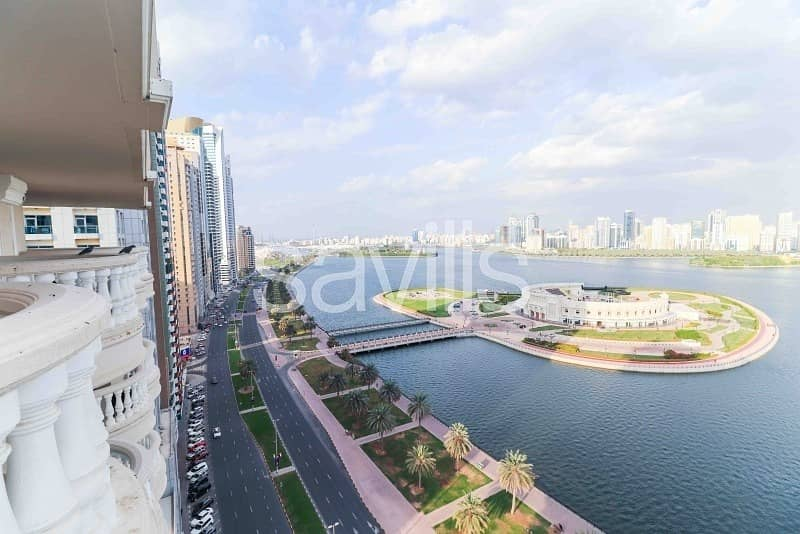 2 Riviera luxurious apartment with full Al Buhairah view