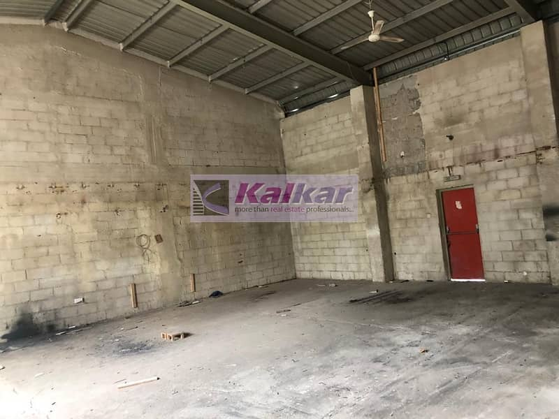 !! 1500 SQFT COMMERCIAL WAREHOUSE IN ALQUOZ AED:  45000/- !!
