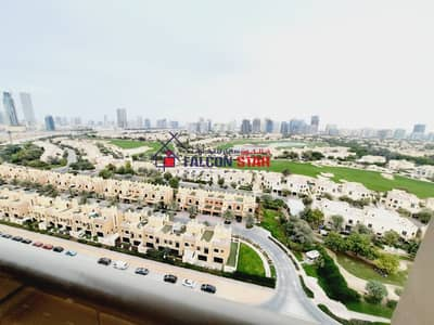 3 Bedroom Apartment for Sale in Dubai Sports City, Dubai - AMAZING GOLF AND POOL VIEW | HIGHER FLOOR | FULLY FURNISHED | BIGGER SIZE