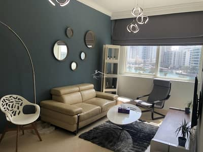 1 Bedroom Apartment for Rent in Dubai Marina, Dubai - 1BR Marina View | Furnished | Free Chiller