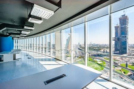 طابق تجاري  للايجار في شارع الشيخ زايد، دبي - Mid Floor | Fully Fitted Office | Full Floor
