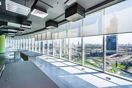 طابق تجاري  للايجار في شارع الشيخ زايد، دبي - Full Floor | Prime Location | Fitted Office