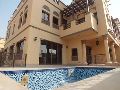 5 Bedroom Villa for Rent in Jumeirah, Dubai - semi independent 5bhk Villa in Jumeirah 1 with privet pool & garden rent is 180k