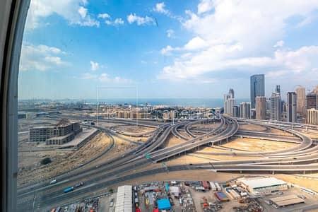 مکتب  للايجار في أبراج بحيرات الجميرا، دبي - Shell and Core