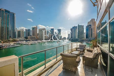 3 Bedroom Villa for Rent in Dubai Marina, Dubai - Triplex Villa | Full Marina View | Rare Unit